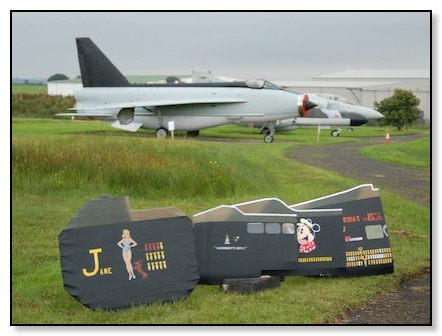 panels in front of jet